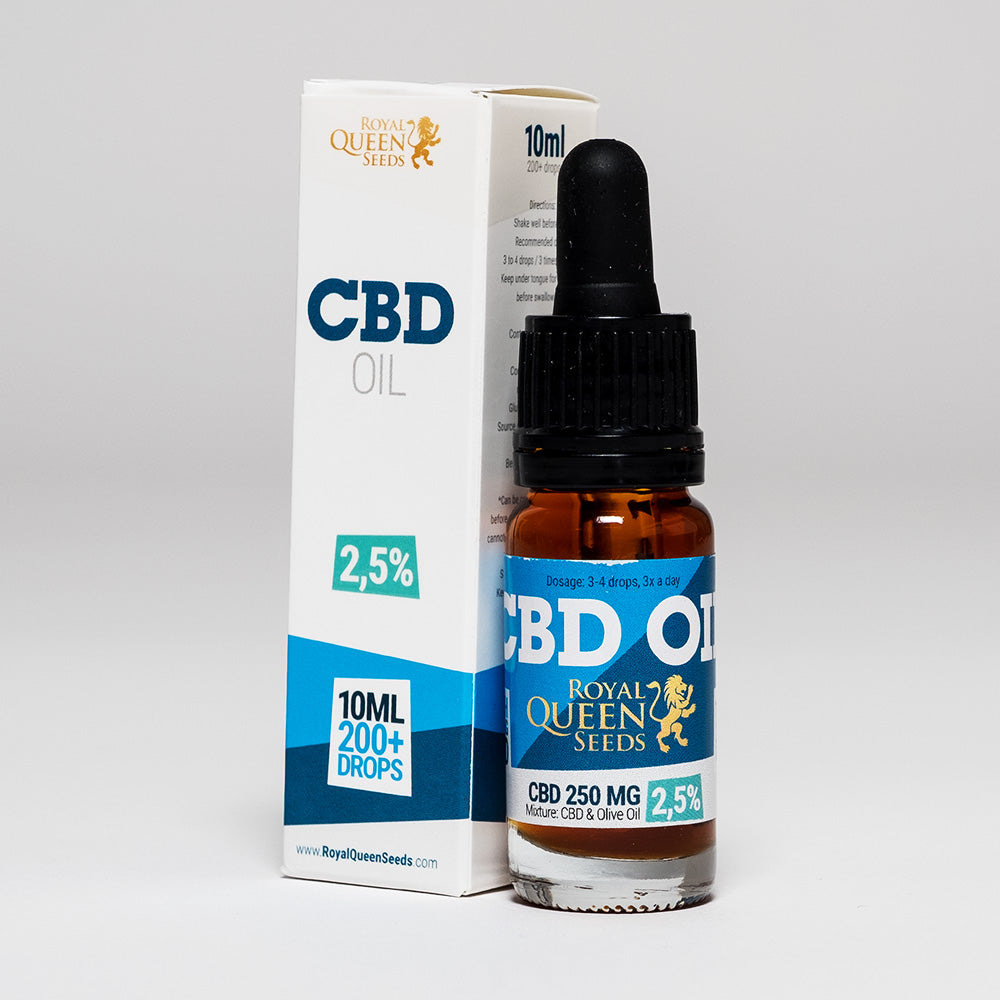 CBD Oil UK 10ml 250mg - Royal Queen Seeds
