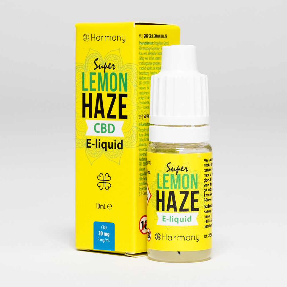 CBD Vape Oil UK 10ml 30mg Lemon Haze - Harmony