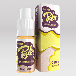CBD Vape Oil UK 10ml 200mg Pucker - Pud'n Munchies CBD
