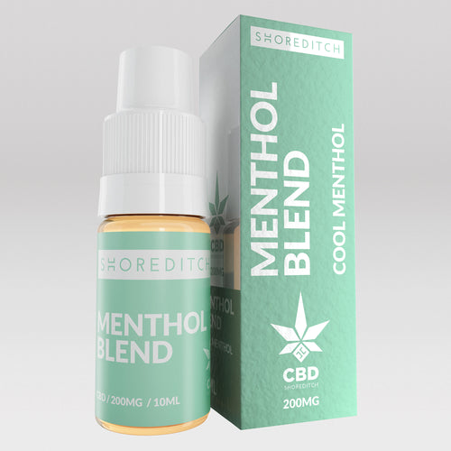 CBD Vape Oil UK 10ml 200mg Menthol Blend - Shoreditch CBD