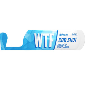 CBD Vape Oil Shot 1ml 100mg - WTF CBD