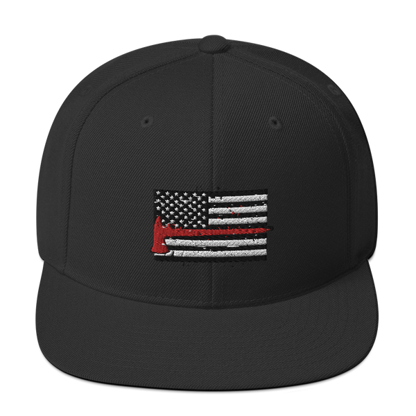 Firefighter Flag - Leatherhead Snapback Hat