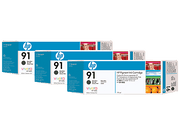 HP 91 DesignJet Ink - 3 Pack