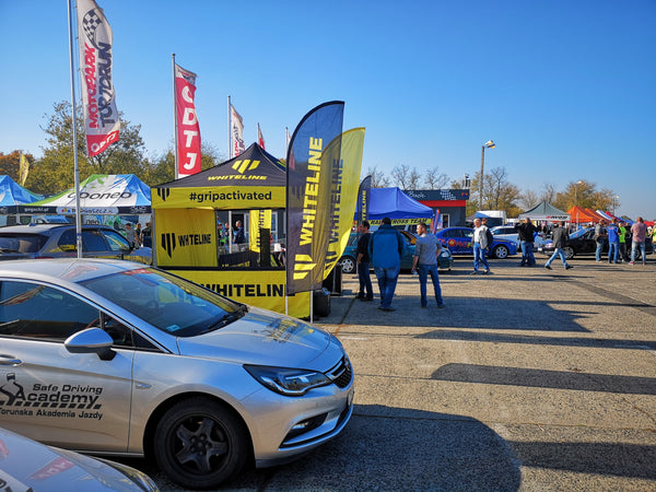Whiteline tent with other vendors at Oponeo Rallycross Torun Poland