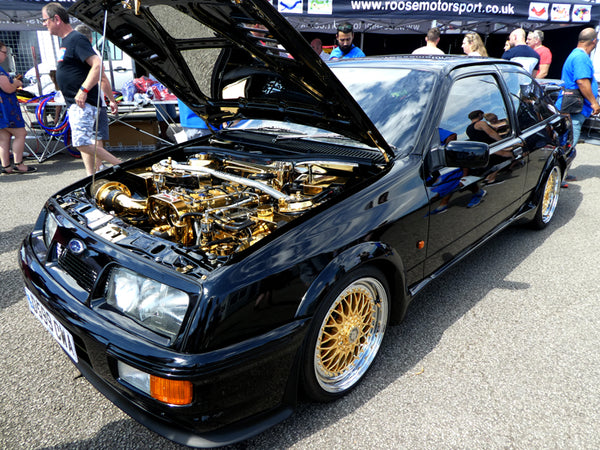 Ford Cosworth Gold Engine Bay