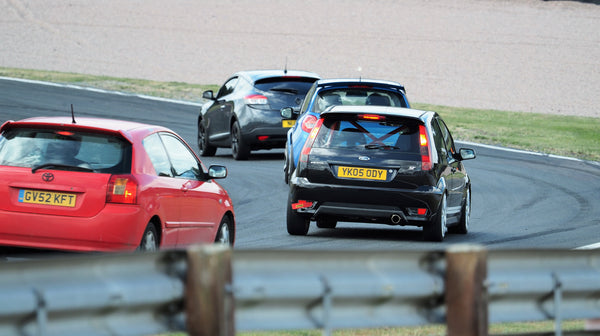 Public cars on track at Oulton Park race circuit