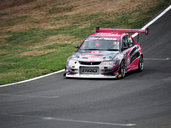 Phil Reed in Mitsubishi Evo IX - Pace Ward Racing time attack entry on Oulton Park straight