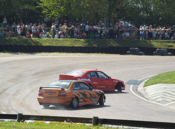 Red Vs Orange BMW Drifting at Lydden Car Show