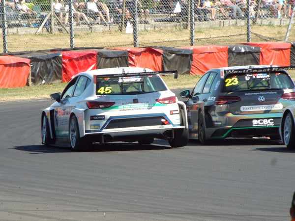 TCR VW Golf and Seat Leon Side by Side at Castle Combe