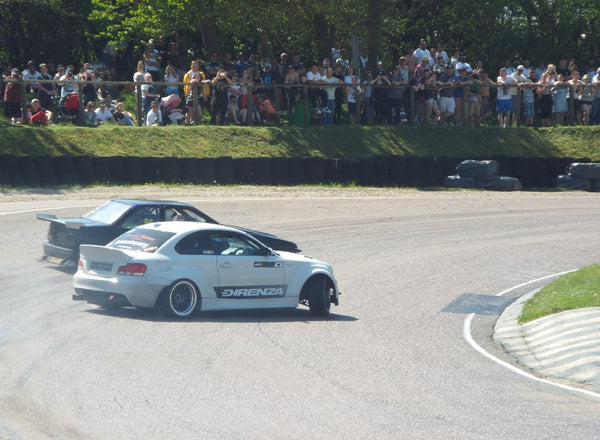 White BMW Drifting at Lydden Car Show