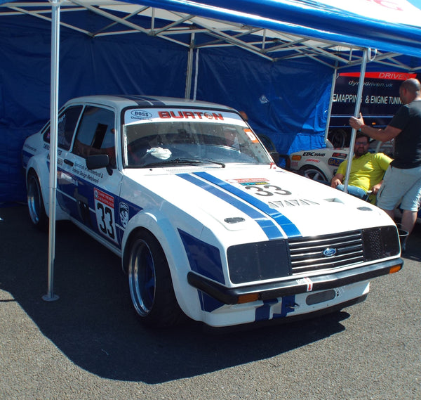White Ford Escort at Lydden Car Show