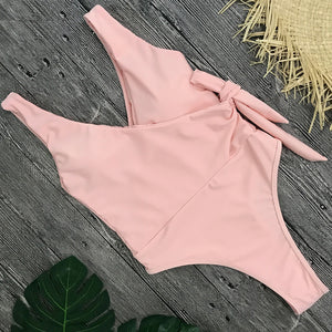 Tonya Tie Side High Cut Swimsuit - Nymph & Co