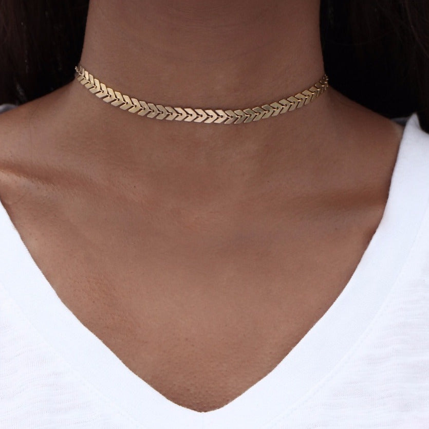 Link The Leaves Chain Choker - Nymph & Co
