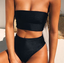 Heidi High Waist Bandeau Bikini Set - Nymph & Co
