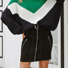 Sara Suede Studded Skirt - Nymph & Co