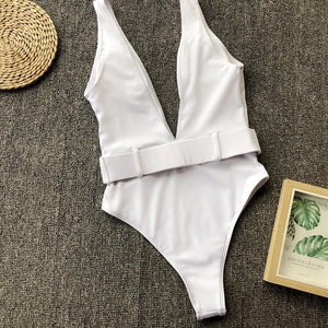 Brie Belted Swimsuit - Nymph & Co