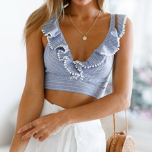Ruffle Tie Back Crop Top - Nymph & Co