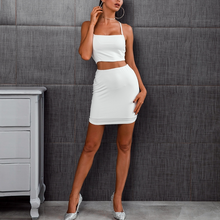 Cross Back Two Piece Crop Top & Skirt Set - Nymph & Co