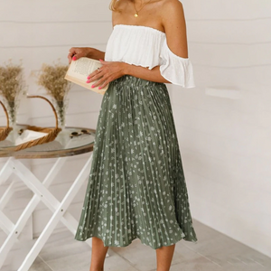 Pearlyn Pleated Midi Skirt - Nymph & Co
