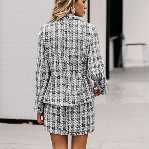Aye Aye Plaid Blazer & Skirt Two Piece Set - Nymph & Co