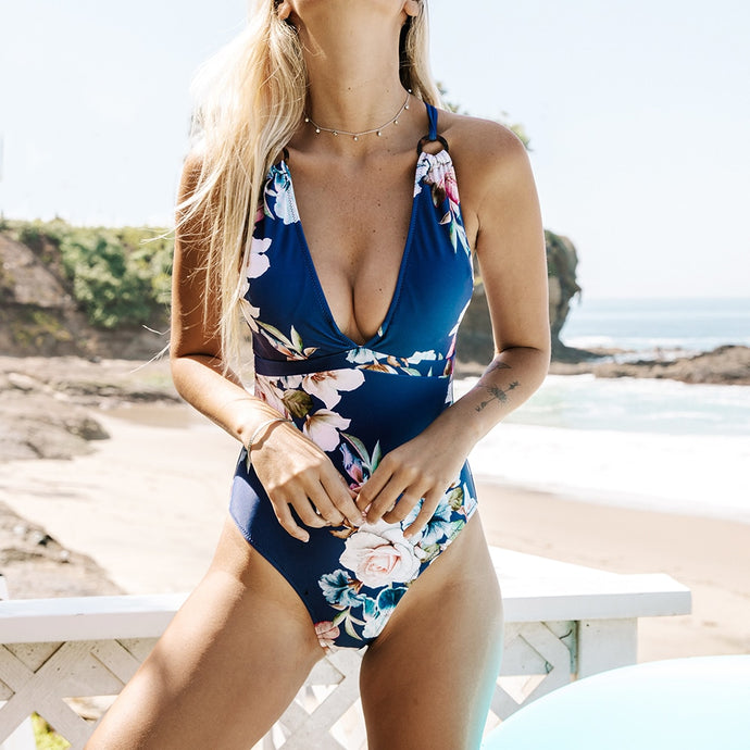 Fiore Floral CrissCross Swimsuit - Nymph & Co