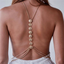Carved Flower Coin Boho Body Chain - Nymph & Co