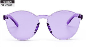 Round Candy Clear Sunglasses - Nymph & Co