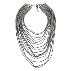 Metal Chain Multilayer Choker Necklace - Nymph & Co