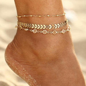 Sequin Arrow Anklet Set - Nymph & Co
