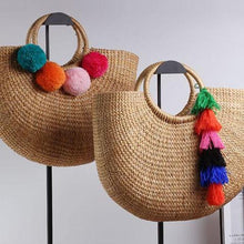 Large Moon Weave Straw Bag - Nymph & Co