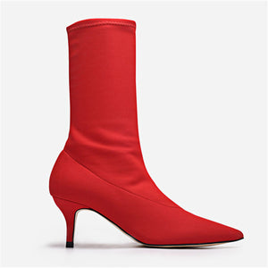 Elastic Sock Boot with Stiletto Heel - Nymph & Co