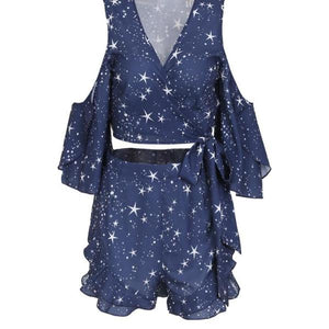 Starry Starry Night Two Piece Romper - Nymph & Co