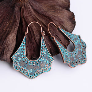 Antique Blue Copper Earrings - Nymph & Co