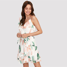 Ruff-leaves One Shoulder Dress - Nymph & Co