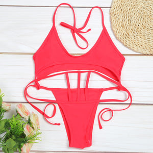 Carmen Cut Out Strappy Bikini - Nymph & Co