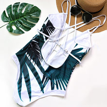 Deep Plunge Tropical Swimsuit - Nymph & Co