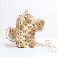 Cactus Pom Pom Straw Bag - Nymph & Co