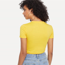 Hello There Honey Yellow Crop Top - Nymph & Co
