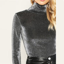 Shine Bright Glitter High Neck Top - Nymph & Co