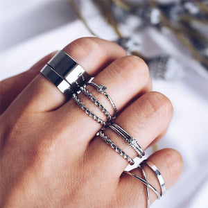 Georgina Geometric Ring Set - Nymph & Co