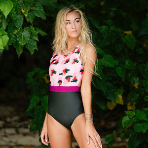 Prints & More Prints Tie Back Swimsuit - Nymph & Co