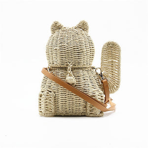 Lucky Cat Straw Bag - Nymph & Co