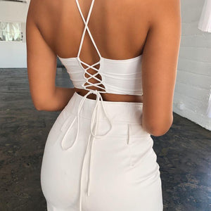 Kelly Keyhole Crop Top - Nymph & Co