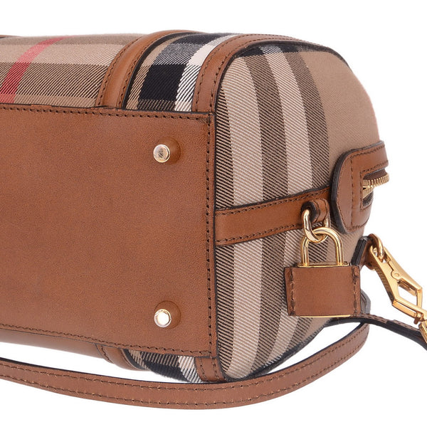 Brown Haymarket Print Bowling Bag