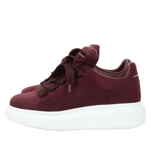 Burgundy Knitted Sneakers