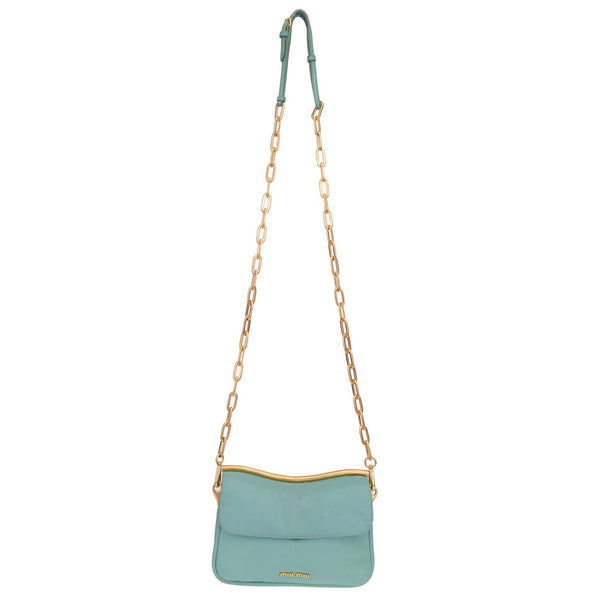 Turquoise Double Sided Flapped Chain Crossbody