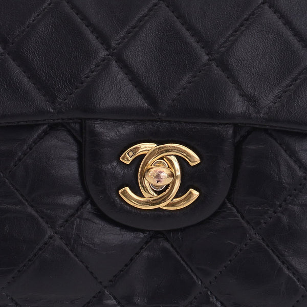 Vintage Black Quilted Lambskin 2.55 Flap Crossbody