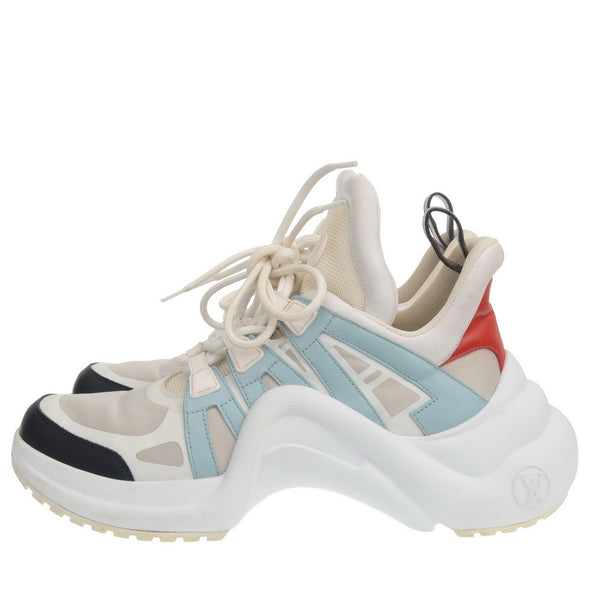 Light Blue & Red Archlight Sneakers
