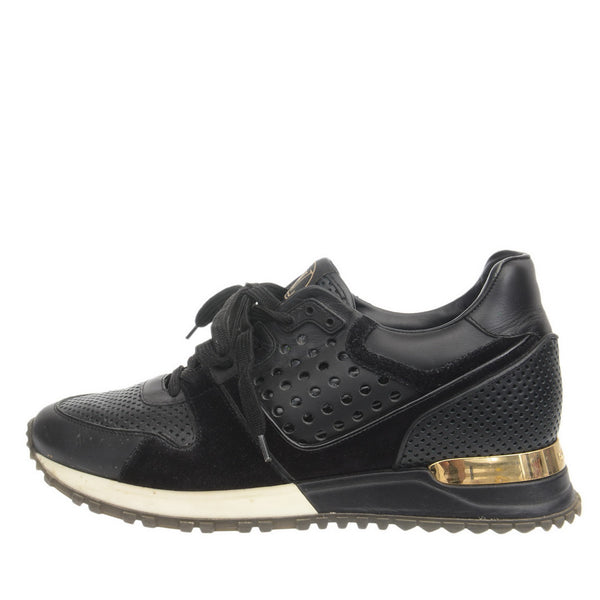 Black Leather and Suede Runaway Sneakers