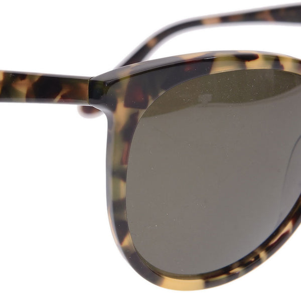 ColorBlock Rounded Cat Eye Sunglasses